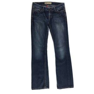 BKE Buckle Sabrina Med Wash Low Rise Bootcut Jeans